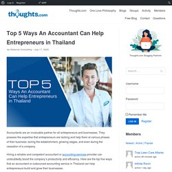 Top 5 Ways An Accountant Can Help Entrepreneurs in Thailand - Thoughts.com