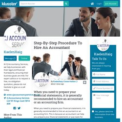 Step-By-Step Procedure To Hire An Accountant