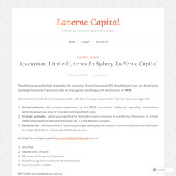 Accountant Limited Licence In Sydney