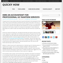 Hire an accountant for professional US taxation services