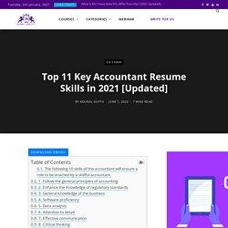 Top 11 Key Accountant Resume Skills in 2021 [Updated]