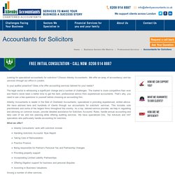 Accountants for Solicitors by Allenby Accountants