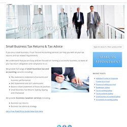 Small Business Tax Accountants Sydney