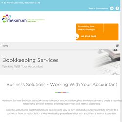 Working With Accountants At Max Business Solutions