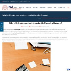 Why is Hiring Accountants Important in Managing Business?