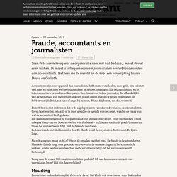 Fraude, accountants en journalisten