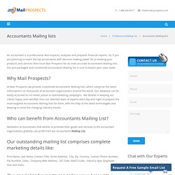 Accountants Mailing lists, Accountants Email lists, Email list of accountants