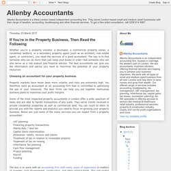 Allenby Accountants: If You're in the Property Business, Then Read the Following