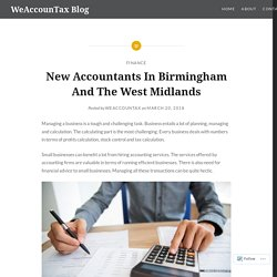 New Accountants In Birmingham And The West Midlands