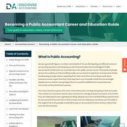 Public Accounting - Public Accountant Salary, Career & Degree Guide - Discover Accounting