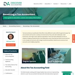 Tax Accounting - Tax Accountant Degree, Career & Salary Guide - Discover Accounting