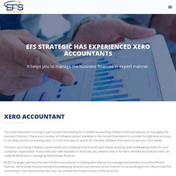 XERO Accounting - EFS Strategic - XERO Gold Partner, Accountants, Certified Advisors