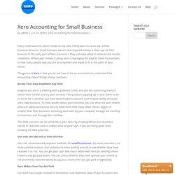 Xero Accounting for Small Business Xero Accountants