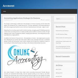 Accounting Applications Packages for Business