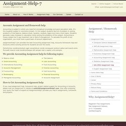 Accounts Assignment - AssignmentHelp7