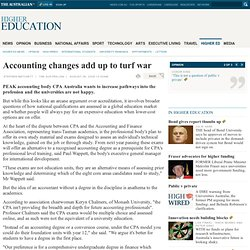 Accounting changes add up to turf war