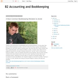 4 Most Common Bookkeeping Mistakes to Avoid