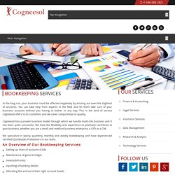 Accounting & Outsource Bookkeeping Services by Cogneesol