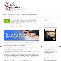 Accounting & Bookkeeping Services in Charlotte