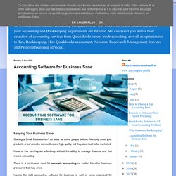online accounting and bookkeeping services: Accounting Software for Business Sane
