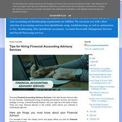 online accounting and bookkeeping services: Tips for Hiring Financial Accounting Advisory Services