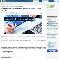 Providing Quality Accounting and Bookkeeping Service to the USA by Emily John
