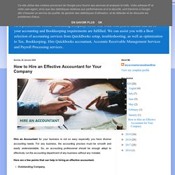 online accounting and bookkeeping services: How to Hire an Effective Accountant for Your Company