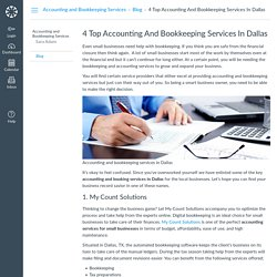 4 Top Accounting And Bookkeeping Services In Dallas: Blog: Accounting and Bookkeeping Services