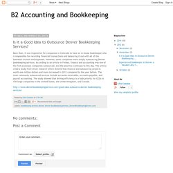 Is It a Good Idea to Outsource Denver Bookkeeping Services?
