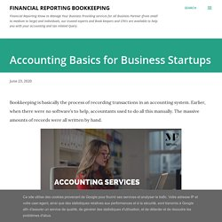 Accounting Basics for Business Startups