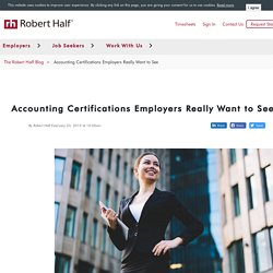 Accounting Certifications Employers Want to See