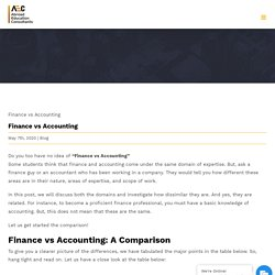 Finance vs Accounting - Abroad Education Consultants