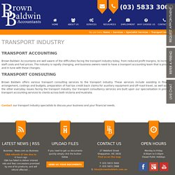 Transport Accounting, Transport Consulting - Transport Accountant Services Victoria, Australia