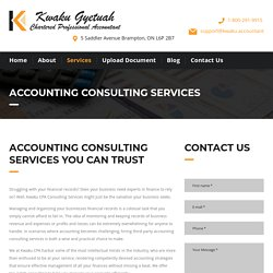 Trusted Accounting Consulting Services – Kwaku CPA Accountant