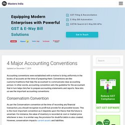 4 Major Accounting Conventions