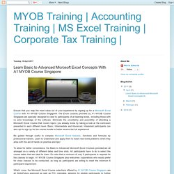Learn Basic to Advanced Microsoft Excel Concepts With A1 MYOB Course Singapore