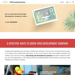 DZUS Accounting Services - Five Effective Ways to Grow Your Web Development Company