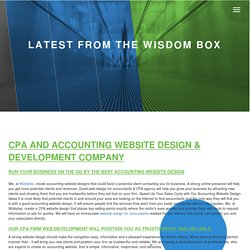 CPA and Accounting Website Design