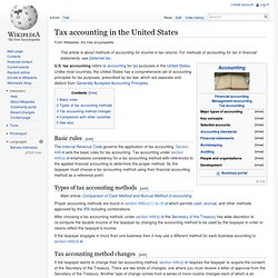 Tax accounting in the United States