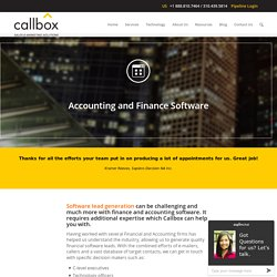 Accounting and Finance Software