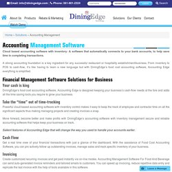 Cloud Based Food Cost Accounting Software