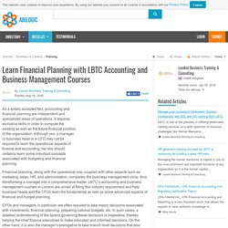 Learn Financial Planning with LBTC Accounting and Business Management Courses