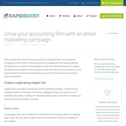 Drip Email Tips to Boost Your Accounting Sales