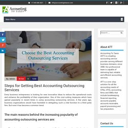 Steps for Getting Best Accounting Outsourcing Services