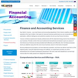 Financial Accounting Outsourcing Services