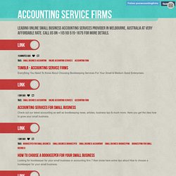 Accounting service firms