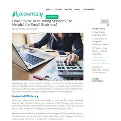 How Online Accounting Services are Helpful for Small Business