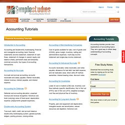 Accounting Lectures, Tutorials, Articles | Simplestudies.com