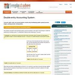 Double-entry Accounting System: Online Accounting Tutorial & Questions | Simplestudies.com