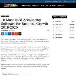 10 Most-used Accounting Software for Business Growth 2019-2020